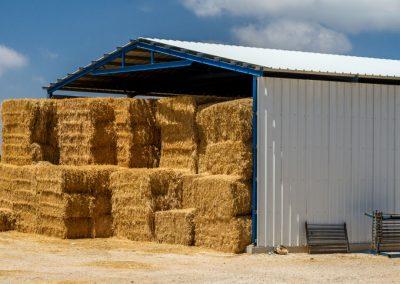 Cost effective hay barn