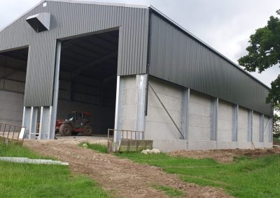 Entrance to large farm building