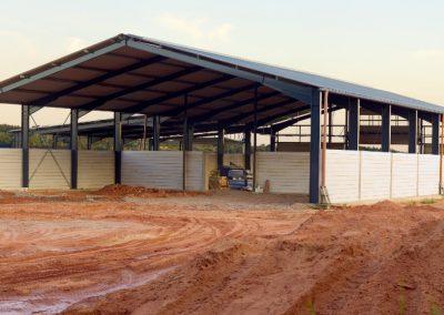Fabrication of steel barn