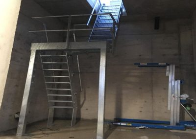 Fire escape Stairs From Basement compressor