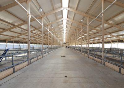 New steel barn construction